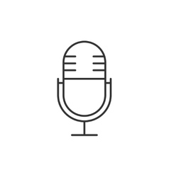 Microphone thin line icon vector