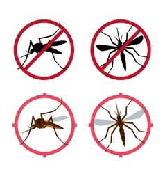 Mosquito icons set vector