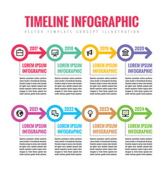 Infographic business concept in flat style vector