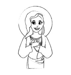 Holy mary icon image vector