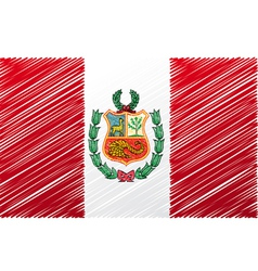 Peruvian flag vector image