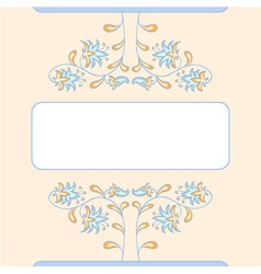 Floral summer card template vector image