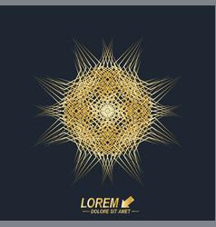 Fractal golden element virtual background vector