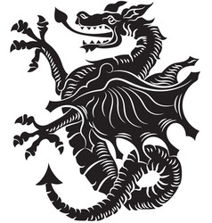 Tribal tattoo dragon vector