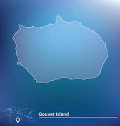 Map of bouvet island vector