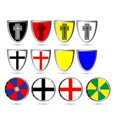 Medieval shields vector