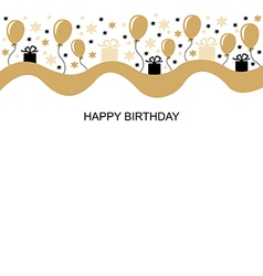 birthday long vector image