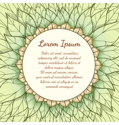 Hand drawn floral background with text vector