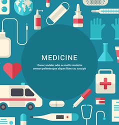 Medicine concept flat style with place for text vector