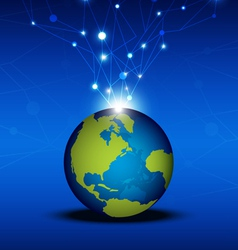 Globalization technology network vector