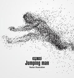 Jumping man particle divergent composition vector
