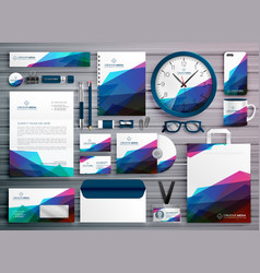 Abstract business stationery corporate identity vector