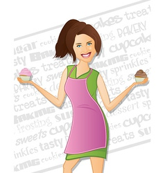 Bakery woman vector