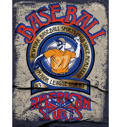baseball college graphics for t-shirtbaseball vector image