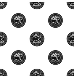 Big sale icon in black style isolated on white vector image