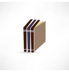 books icon vector image vector image
