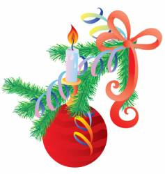 branch ate with ornaments vector image
