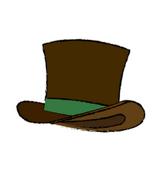 Brown st patricks day hat traditional image vector