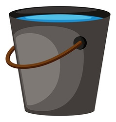 Bucket full of water vector