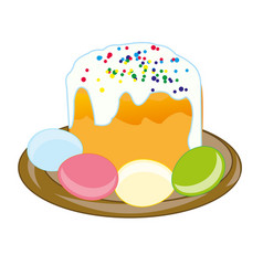 Cake and egg to easter vector