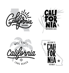 California related t-shirt vintage style graphics vector
