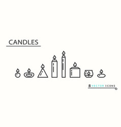 candles set of icons vector image