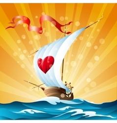 Cartoon boat vector image
