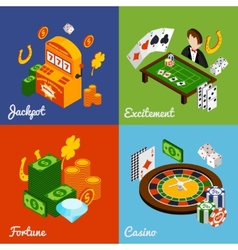 Casino Isometric Set vector image vector image