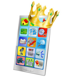 cell phone king vector image vector image