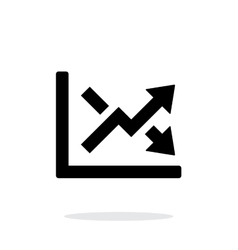 Charts icon on white background vector image vector image