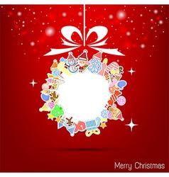 christmas icon for christmas card vector image vector image
