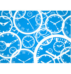 clock background - isolated vector image vector image