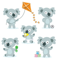 Cute Cartoon Koalas vector image