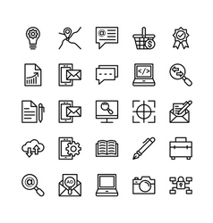 Digital marketing icons 6 vector