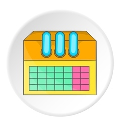Factory icon flat style vector