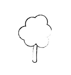 Figure natural tree to ecology care icon vector