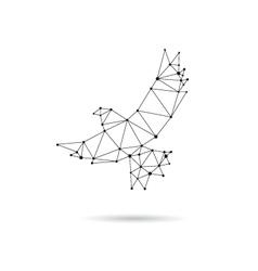 Geometric dove design silhouette vector image vector image