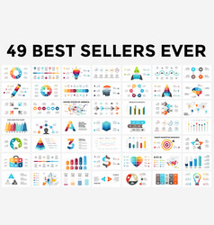 infographics set 49 slides best sellers vector image vector image