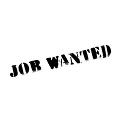 Job wanted rubber stamp vector