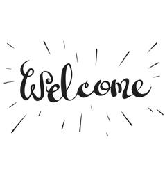 Lettering word welcome vector
