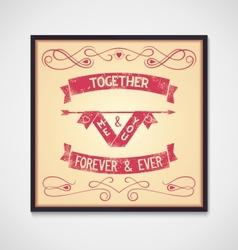 Me and you together phrase grunge vector