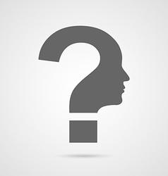 question mark human head symbol vector image