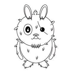rabbit-character vector image vector image