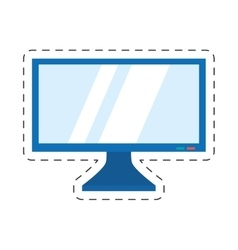 screen computer display equipment vector image