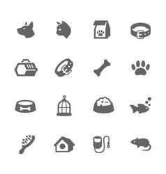 Simple Pets Icons vector image