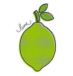 Stylized lime vector