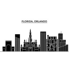 usa florida orlando architecture city vector image vector image