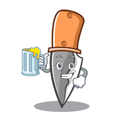 with juice knife character cartoon style vector image