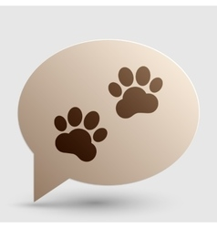 Animal Tracks sign Brown gradient icon on bubble vector image