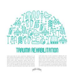 Orthopedic and trauma rehabilitation concept vector